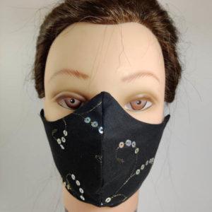 Black Fighting face mask