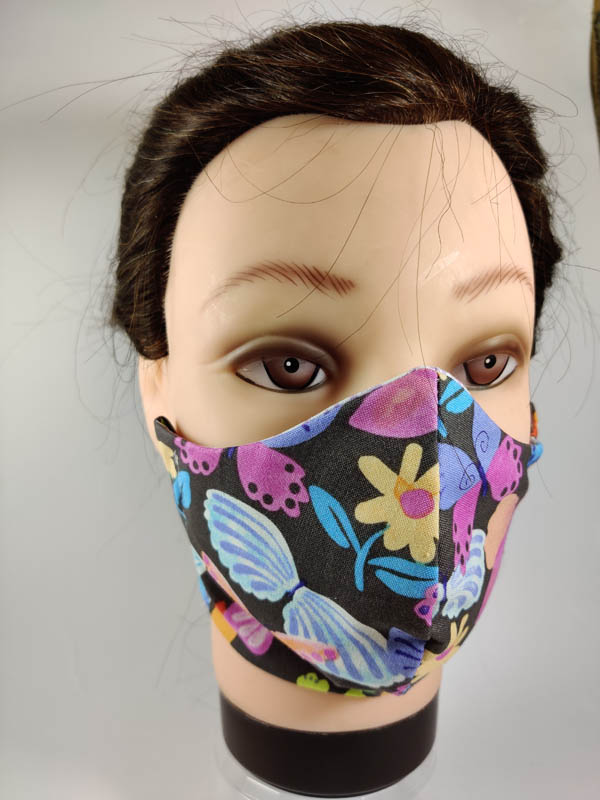 Color Butterfly face mask