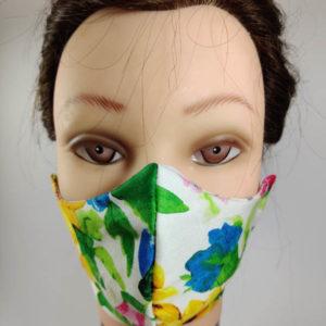 Color Flowers face mask