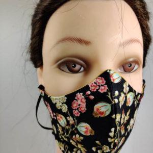 Color floral face mask