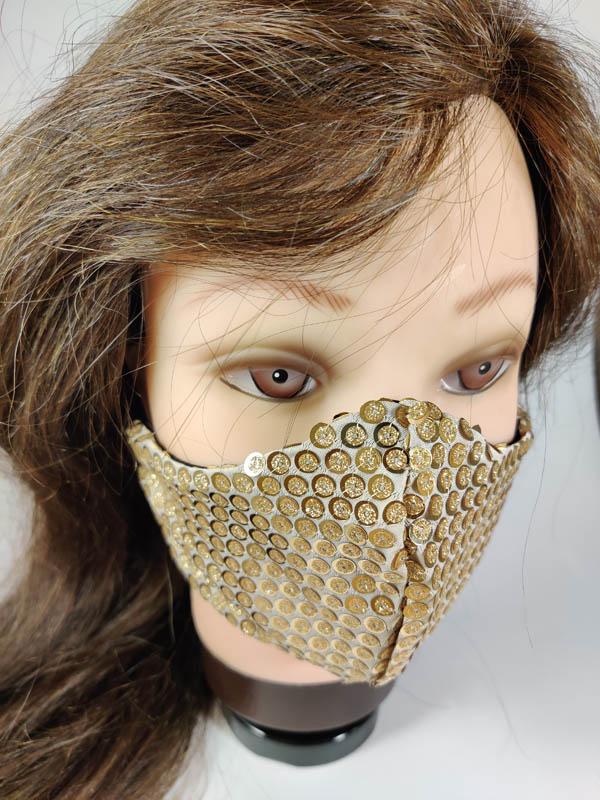 Gold Glitter Face Mask