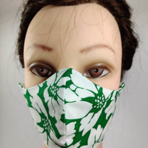 Green Flowers face mask