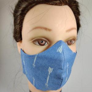 Jeans Arrows face mask