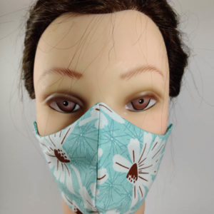 Light Blue Floral mask