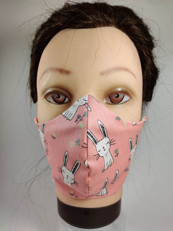 Pink Rabbit face mask