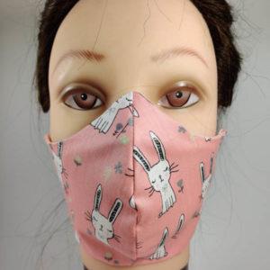 Pink Rabbit face mask