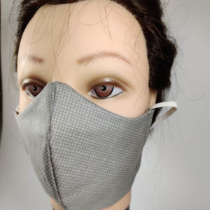 Squares Gray face mask