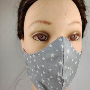 White Stars face mask