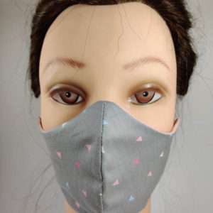 Triangles Gray face mask