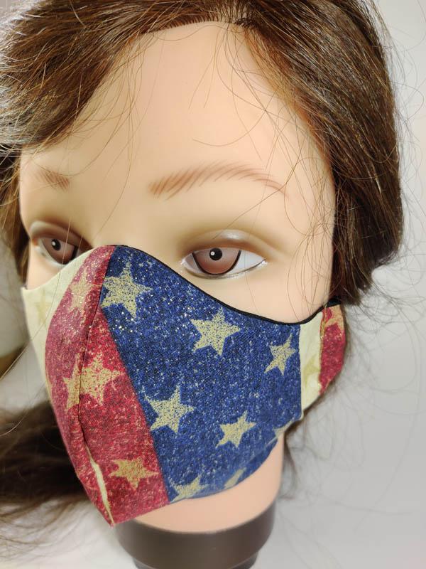 USA Glitter Face Mask