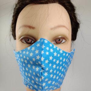 White Stars Blue face mask
