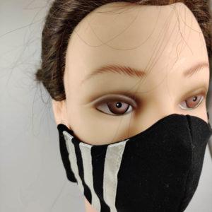 White Stripes face mask