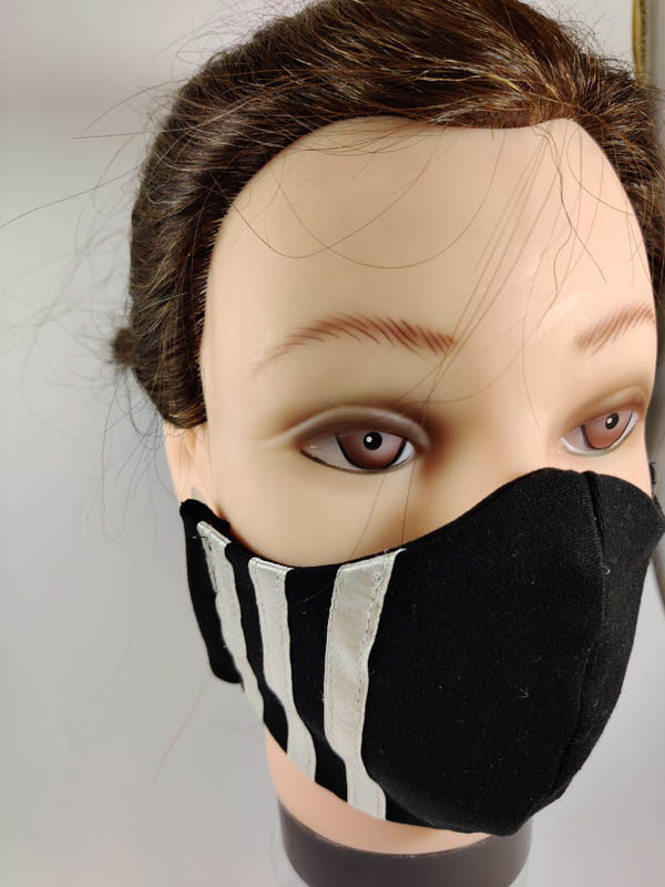 White Stripes face mask