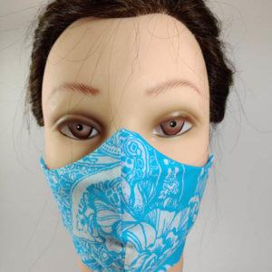 White Fashion face mask