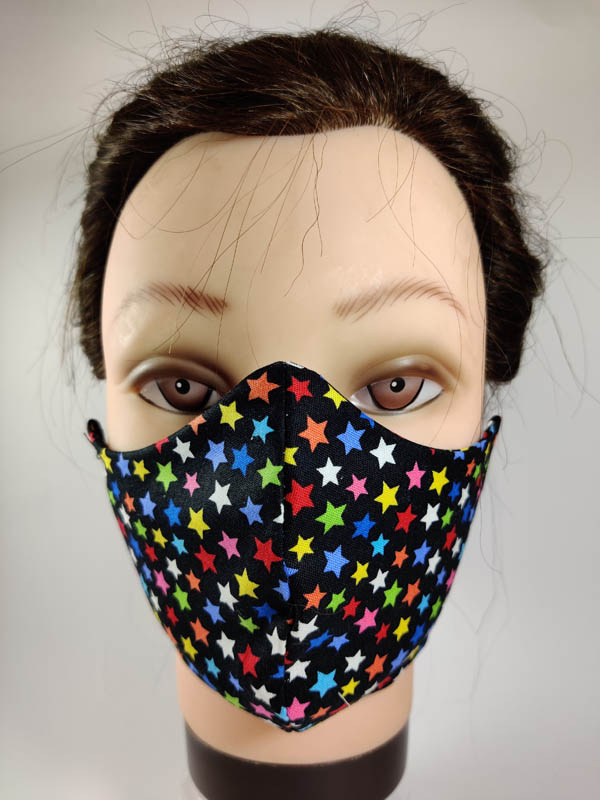 color stars face mask