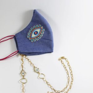 Eye Mask with gold Mask Chain