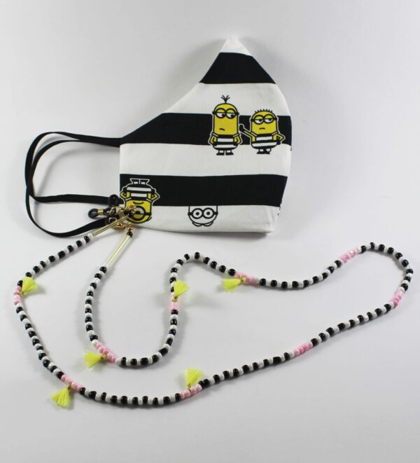 minions mask with beads mask chain
